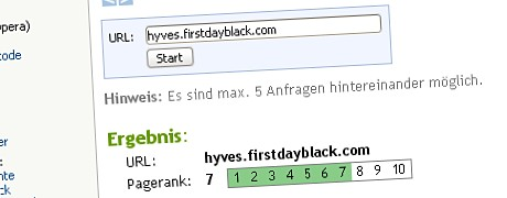 Pagerank 7 - alles ok