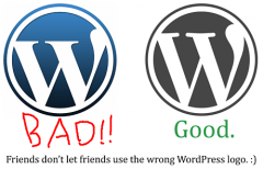 Das ›richtige‹ und das ›falsche‹ WordPress-Logo