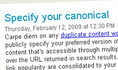Specify your canonical
